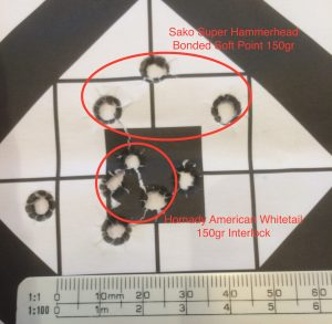 Sub one inch grouping